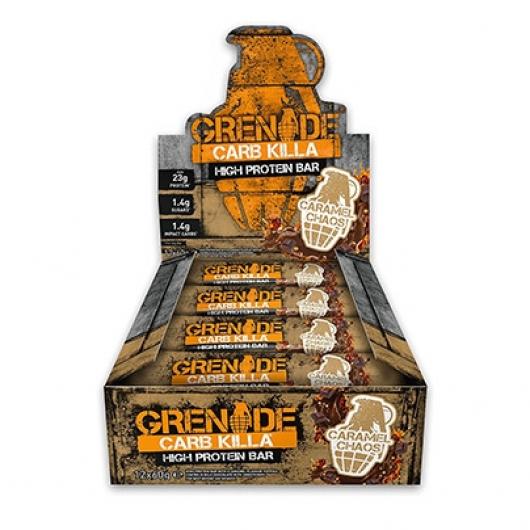 Grenade® Caramel Chaos Carb Killa™ Bars - 12 x 60g