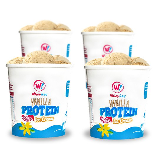 Wheyhey Vanilla Ice Cream - 4 x 150ml