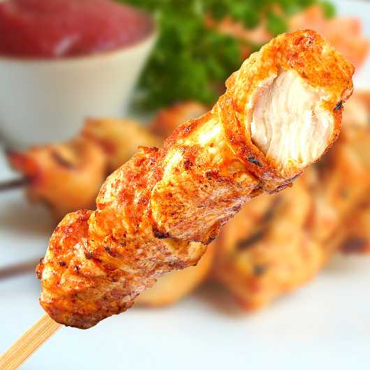 5 x Ready To Eat Spicy Chicken On A Stick