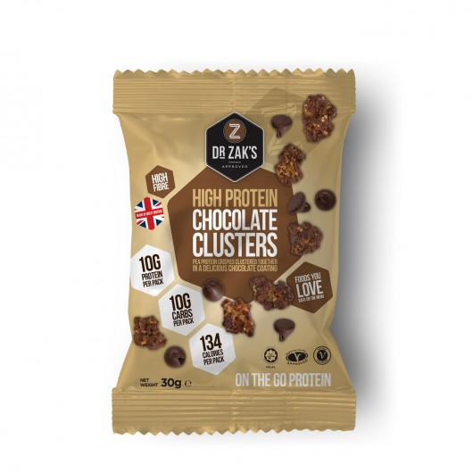Dr Zaks Chocolate Protein Crisp Clusters- Box of 12