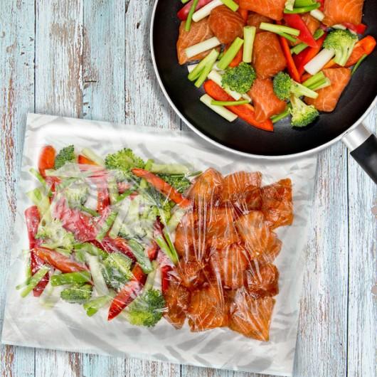 Spicy Teriyaki Salmon Meat Bag - 1 x 2 Portions