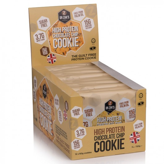 Dr Zaks Chocolate Chip High Protein Cookie - Box of 12