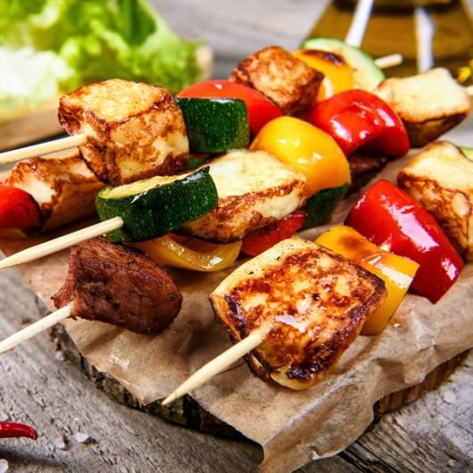 Halloumi Veg Kebabs