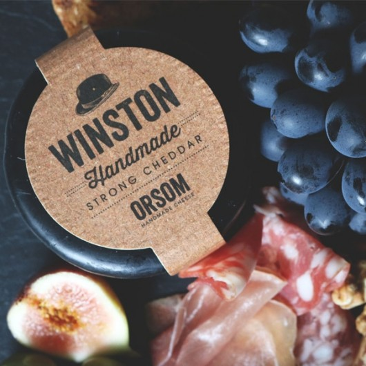 Orsom Winston Waxed Extra Mature Cheddar Truckle-200g
