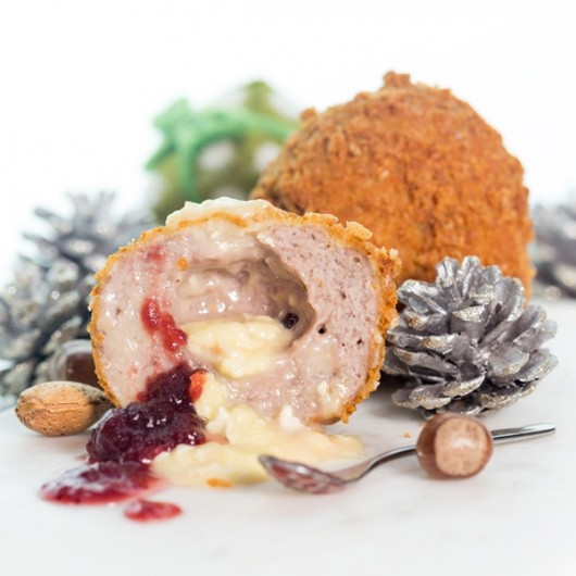 Giant Cranberry and Camembert Scotch Eggs