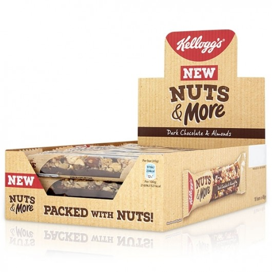 Kellogg's Nuts & More Bar - 18 Bars - Dated 24.4.18
