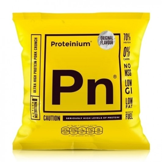 Proteinium High Protein Pork Scratchings - 21g Protein - 5 x 30g
