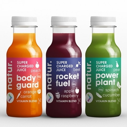 3 x 250ml Supercharged Juices (Orange, Raspberry, Spinach) ****