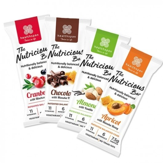 4 x 75g Healthspan Protein and Vitamin Bars