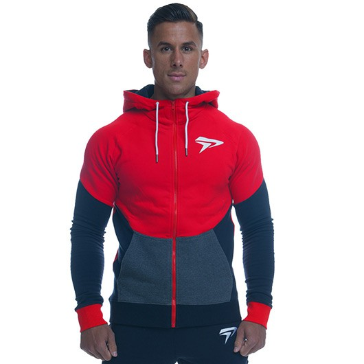 Physiq V3 Contrast Hoodie - Blaze Red