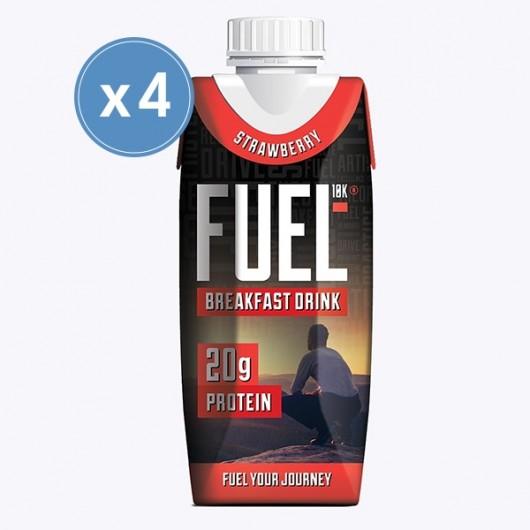 Fuel 10k Strawberry Breakfast Drink - 4 x 330ml