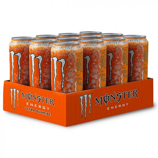 Monster Energy Ultra Sunrise- Zero Calories - 12 x 500ml