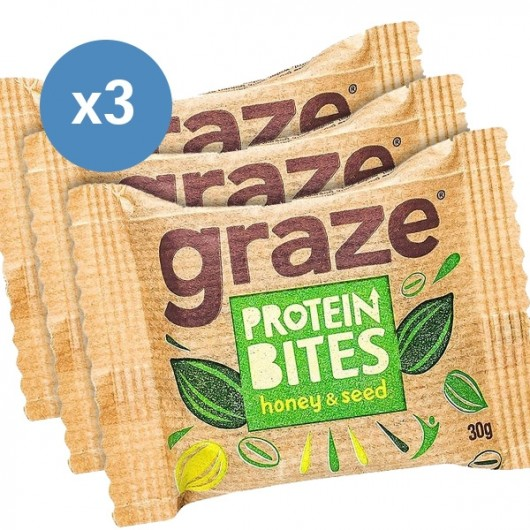 Graze Honey & Oat Protein Bites 3 Packs