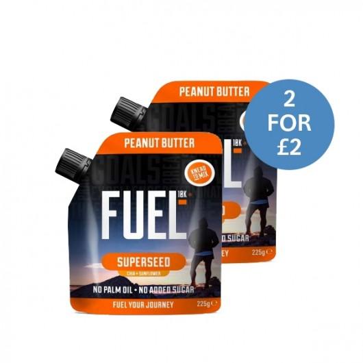 2 x Fuel 10K Super Seed Peanut Butter