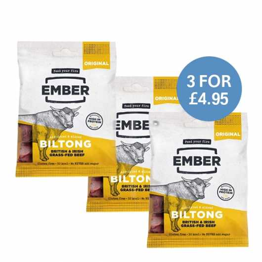 Ember Original High Protein Biltong - 3 For £4.95