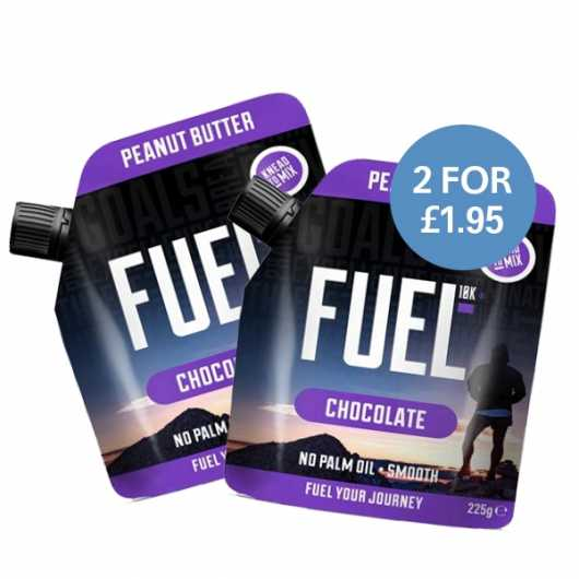2 x 225g  FUEL10K Chocolate Peanut Butter - 2 For £1.95 ****