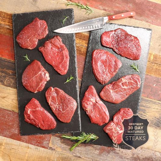 10 x The Heritage Range™ 30 Day Matured 170g Rump Steaks