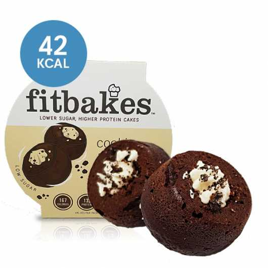High Protein Cookies & Cream Cakes by Fitbakes ****
