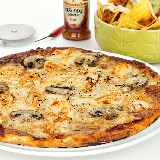 Nandos Hot Protein Pizza