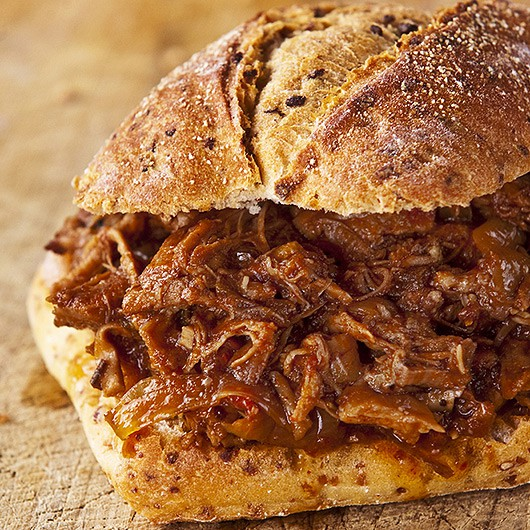 Pulled Beef with Smoky BBQ Sauce