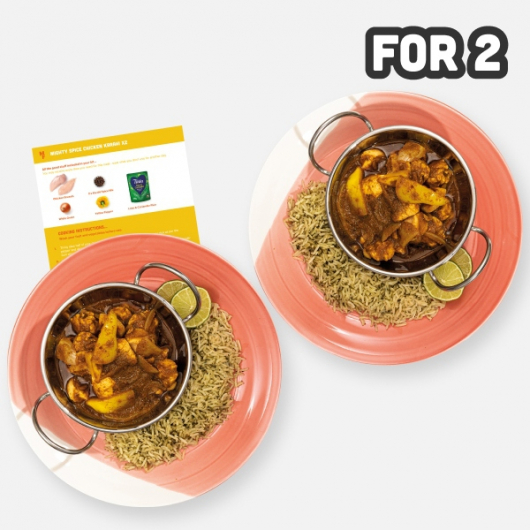 2 Person Mighty Spice Chicken Karahi with Rice Recipe Kit