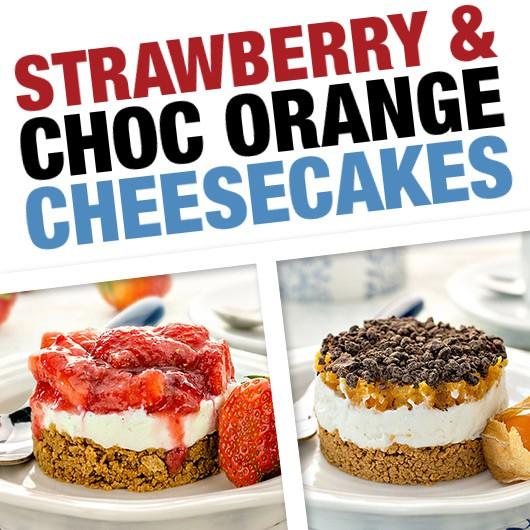 4x Cheesecake Bundle - Strawberry & Choc Orange!