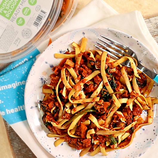 Mushroom and Spinach Bolognese Meal Pot