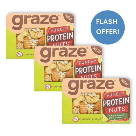 Graze Punchy Protein Nuts 3 x 41g Packs