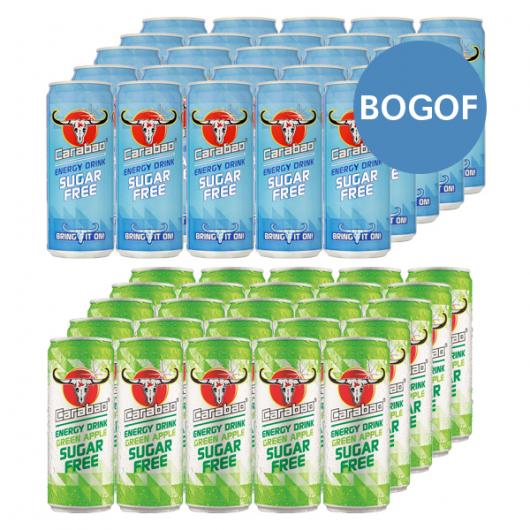 24 x 330ml Carabao Energy Cans - BOGOF