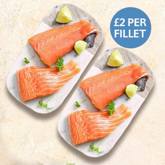 4 X 113g Fresh Salmon Fillets - Just £2 Per Fillet