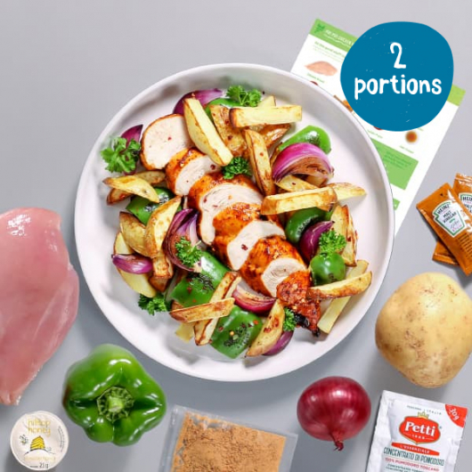 Piri Piri Chicken with Wedges - 2 Portion Recipe Kit