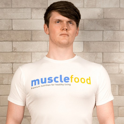 Muscle Food Fit T-Shirt - White