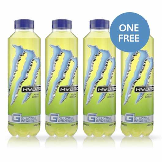 3 x 550ml Monster Hydro Mean Green – 1 FREE