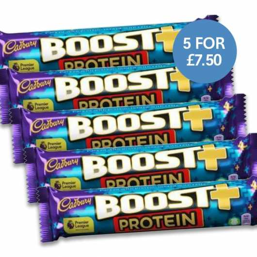 Boost+ Protein Bars - 5 For £7.5 Introductory Offer
