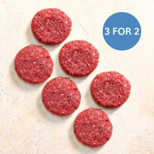 2 x 113g Free Range Steak Burgers - 3 For 2
