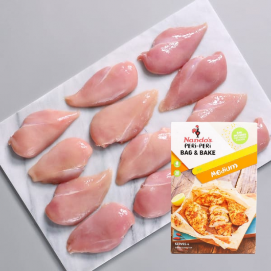 2.5kg Chicken Breasts with FREE Nando's Bag & Bake