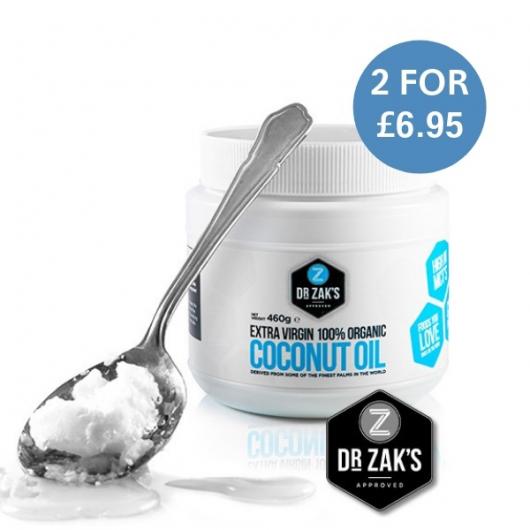 2 x Dr Zak's Extra Virgin Organic Coconut Oil