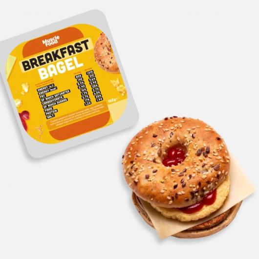 312 kcal High Protein Chicken Breakfast Bagel