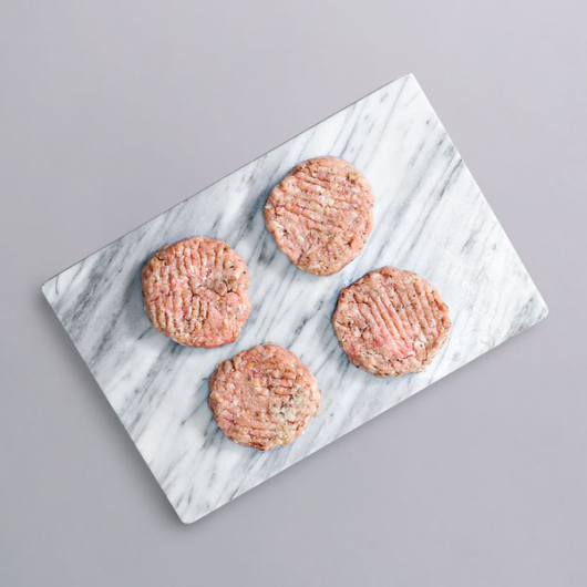 Lincolnshire Style Pork Burgers - 4 x 57g