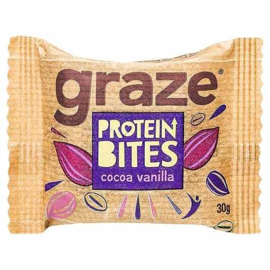 Graze Cocoa & Vanilla Protein Bites - 30g-6 Packs ****