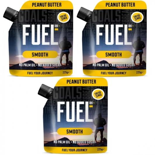 Fuel 10K Smooth Peanut Butter - 3 x 225g ****