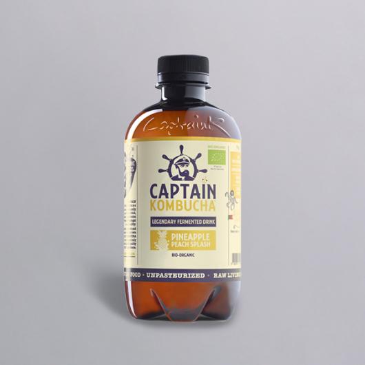 Captain Kombucha Bio-Organic 400ml-Pineapple Peach