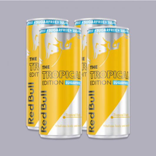 Red Bull Sugar Free- Tropical Edition 250ml - 4 Pack A_MF_DR309 4 x 250ml