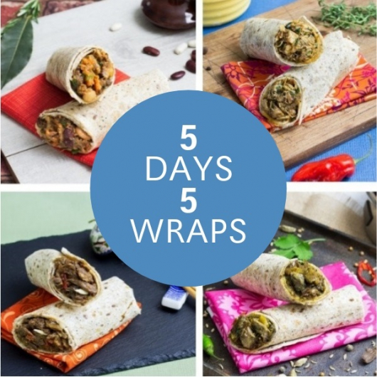 Nom Noms Lunches For The Week - 5 Wraps