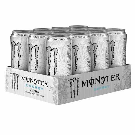 12 x 500ml Monster Ultra White Energy Drinks