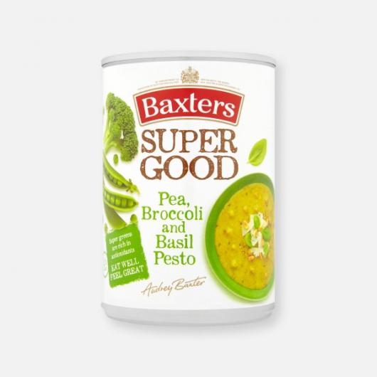 Baxters Super Good Pea, Broccoli and Basil Pesto Soup 400g