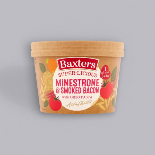 Baxters Super-licious Minestrone & Smoked Bacon Soup with Orzo Pasta 350g
