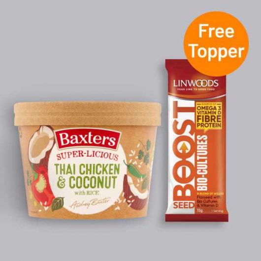 Baxters Thai Chicken & Coconut Soup 350g + Free Seed Topper  A_MF_RM201-LWDFR