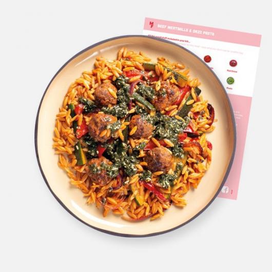 Beef Meatballs & Orzo Pasta Recipe Kit