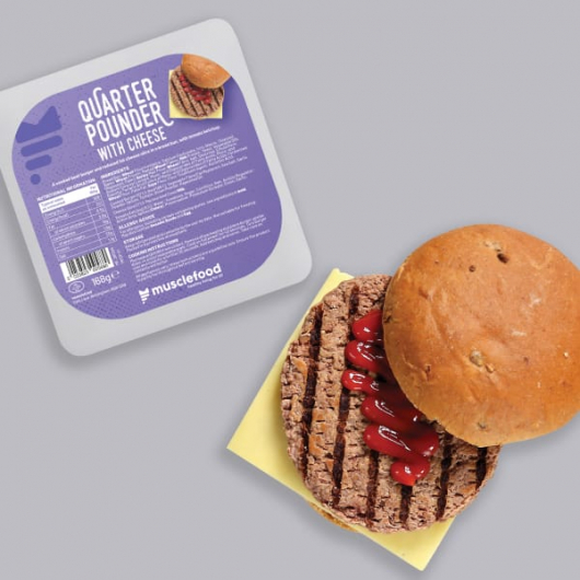 Beef Quarter Pounder with Cheese - 168g (Meat)
